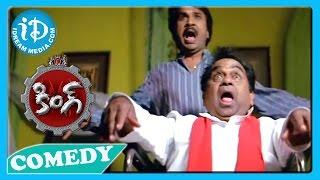 Brahmanandam, Nagarjuna, Krishna Bhagavan Emotional Scene - King Movie