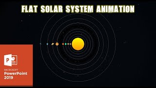 2D Solar System Animation | Motion Graphics in PowerPoint 2016 Tutorial | The Teacher