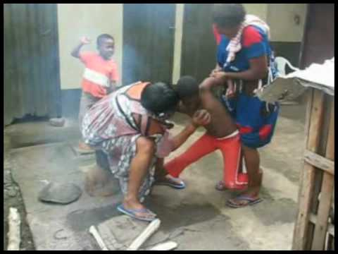 BREAST IRONING DEMONSTRATION