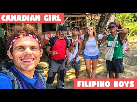 CANADIAN GIRL Hanging Out With FILIPINO BOYS (Leaving Home Trekking)