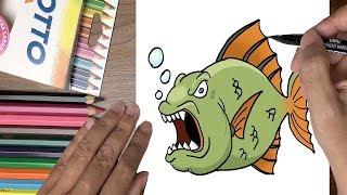 Dạy bé tập vẽ con cá hung dữ