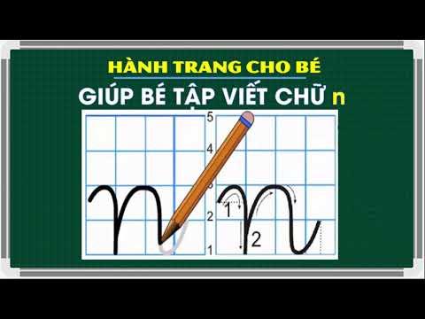 Hướng dẫn viết chữ n thường đúng chuẩn |Write the letter n in Vietnamese | 베트남어로 문자 n 쓰기