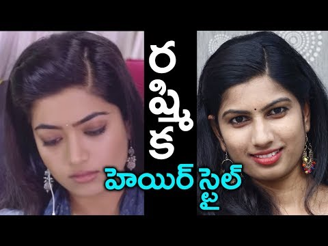 heroine-ramshika-inspired-hairstyles-||-last-minute-hairstyle-for-college/work/office-|-suman-tv