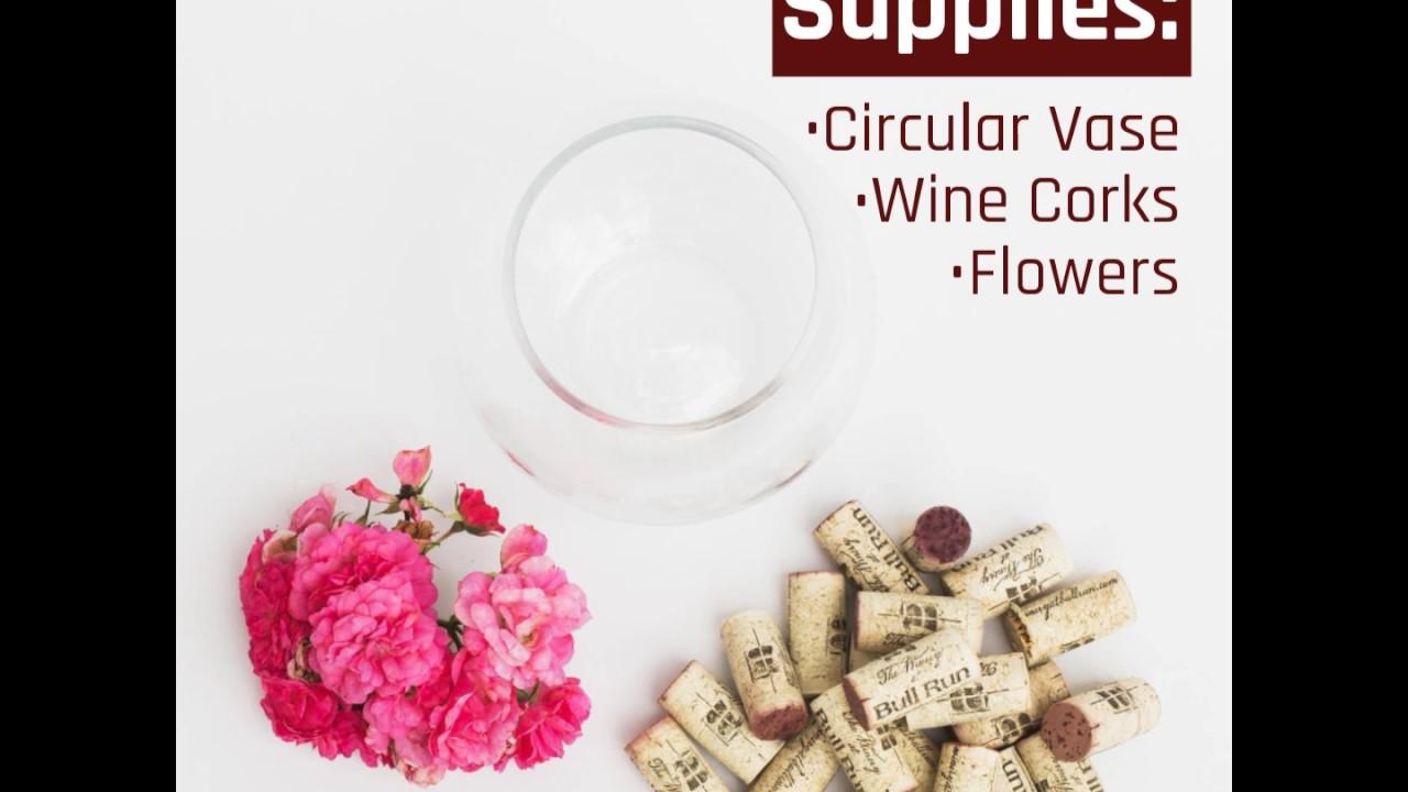 Wine cork vase centerpiece youtube wine cork vase centerpiece reviewsmspy