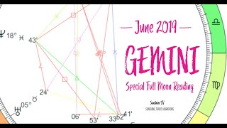 GEMINI SPECIAL FULL MOON💕SOMETHING IS CHANGING~AN OFFER~ FEEL THE POWER~[JUNE 2019]