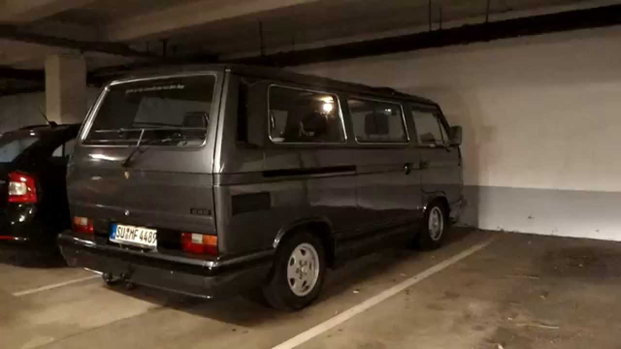 VW T3 Caravelle Carat - Sound Check Tiefgarage - YouTube