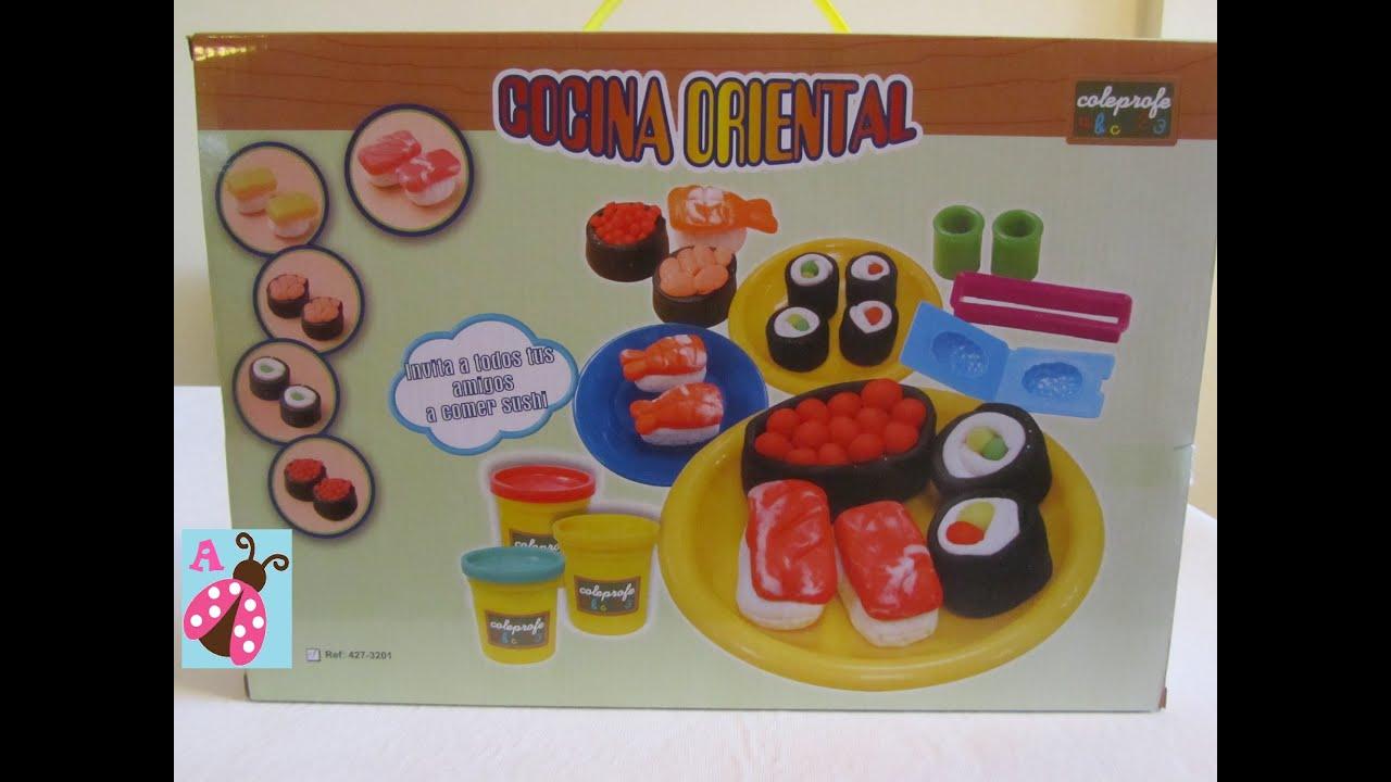 Cocina oriental hacemos sushi de plastilina play doh - Cocina play doh ...