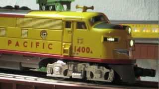 Lionel - Rail King, F-3, A-b-a - Union Pacific, 8 Passenger Car Train  Hd