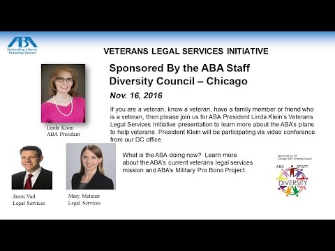 American Bar Association: Veterans Legal Services Initiative