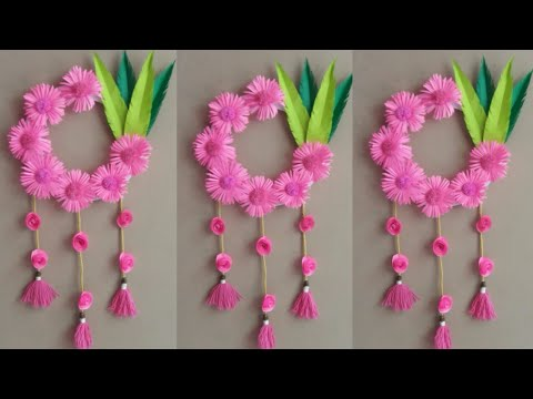 DIY Wall Hanging Decoration Ideas | Paper Flowers Wall Hanging Craft | Paper Craft | Handmade Thing