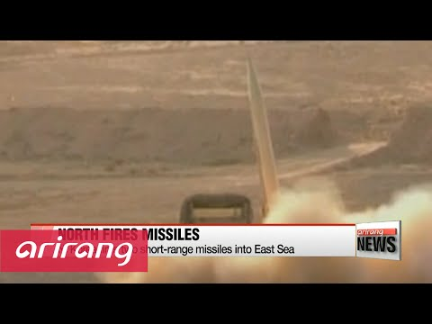 NEWSLINE AT NOON 12:00 N. Korea fires two short-range missiles into East Sea