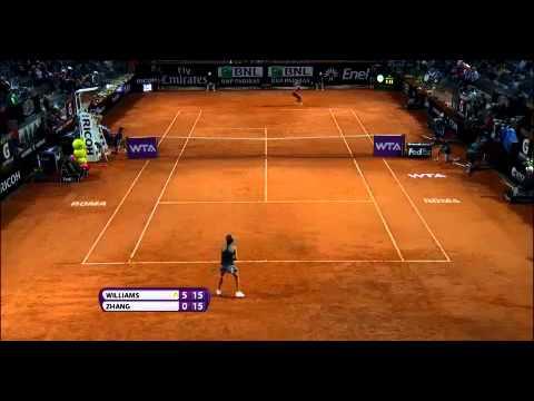 Serena vs Zhang Quaterfinals Rome Masters Open 2014 - Internazionali BNL d'Italia