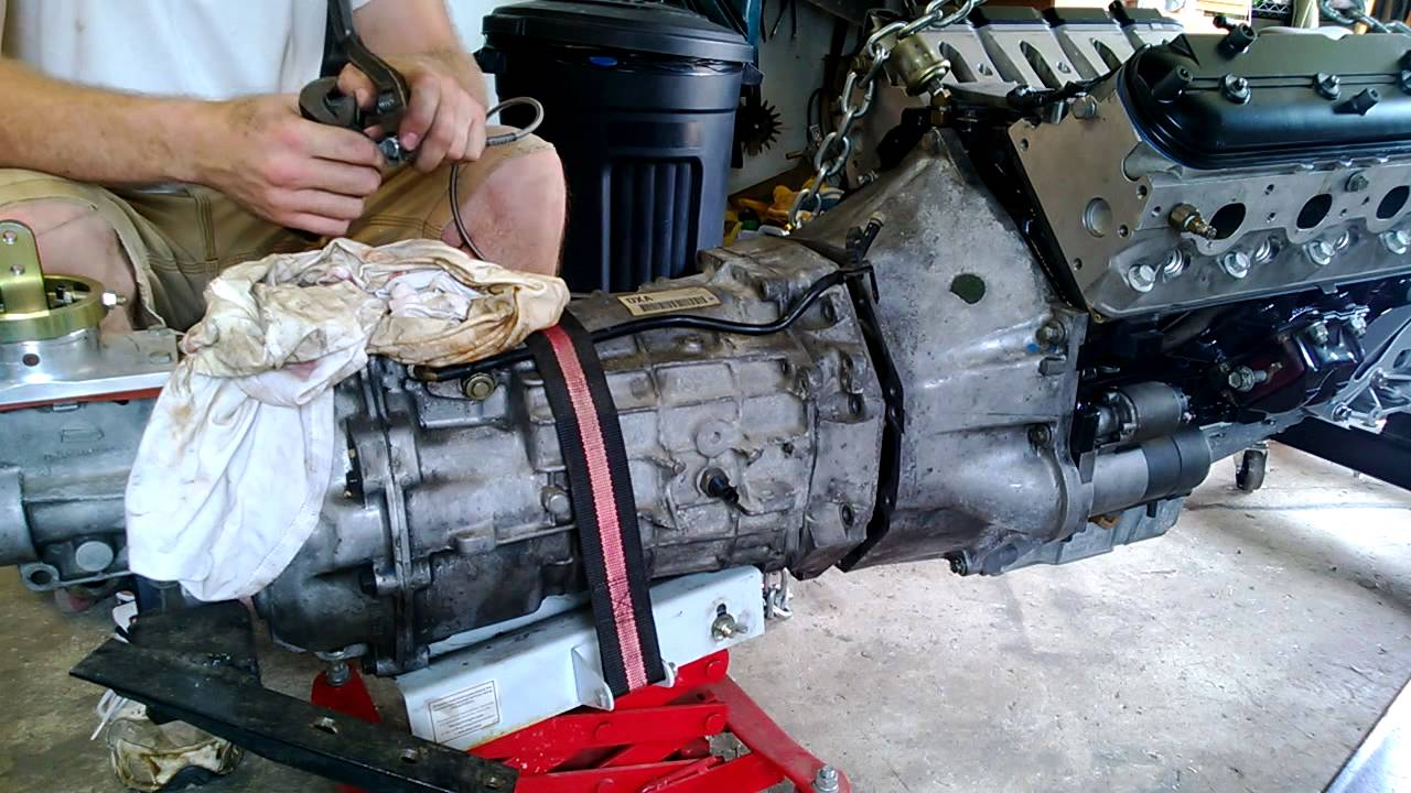 transmission to engine install lq4 and t56 [ 1280 x 720 Pixel ]