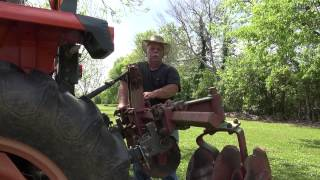 Tilling and Drawing Rows in the garden - April 2014