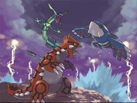 Pokemon R S E Groudon Kyogre Rayquaza Battle Youtube