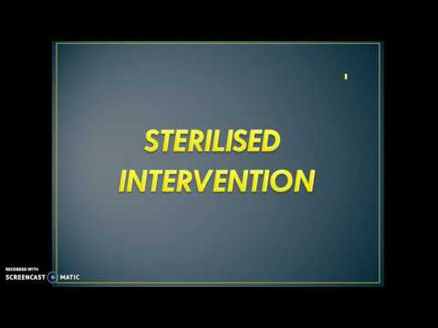 Exchange rate intervention and sterilized intervention
