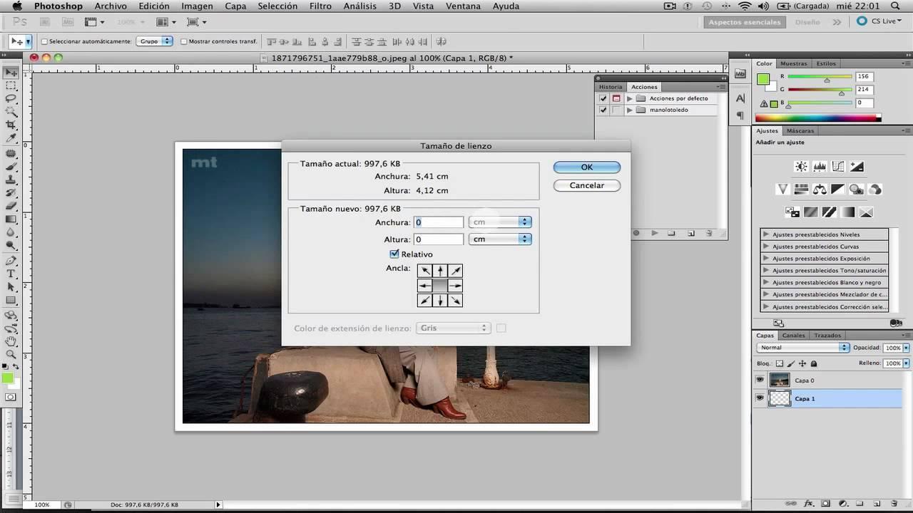 Cómo crear un marco con sombra en Photoshop. Vídeo Screencast - YouTube