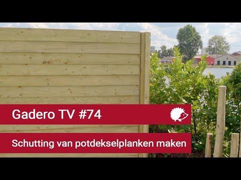 #74 Potdeksel schutting van geïmpregneerd hout - Zweeds Rabat schutting met hoekafwerking