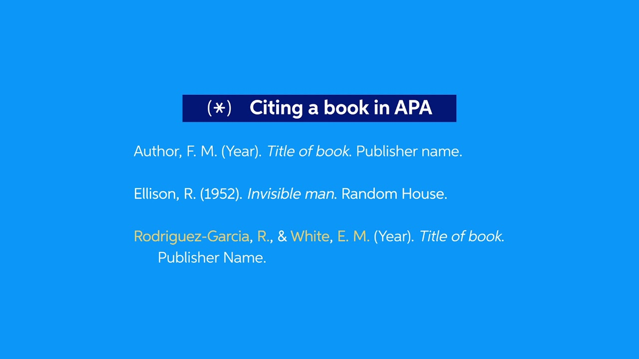 How To Cite A Book In Apa Easybib Citations With Multiple Author