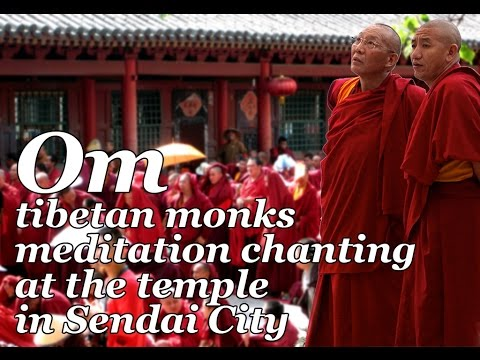 Om tibetan monks meditation chanting at the buddhist temple in Sendai