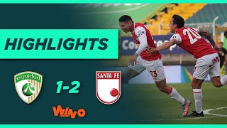 Equidad vs Santa Fe (Goles y Highlights) Liga BetPlay Dimayor 2021-1   Fecha 19