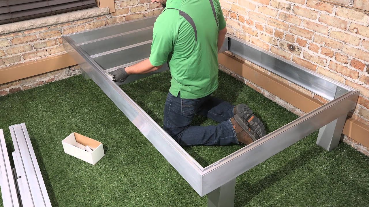 Modular aluminum deck framing system youtube for Modular decks