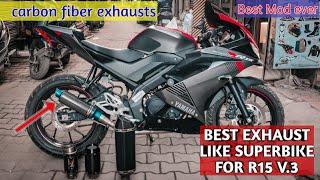 Best Exhaust for Yamaha R15 V.3 -Superbike sound | motovlog