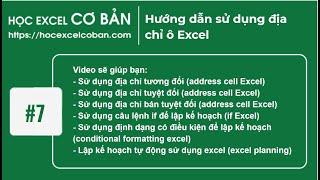 Học Excel cơ bản | #7 Hướng dẫn sử dụng địa chỉ ô Excel