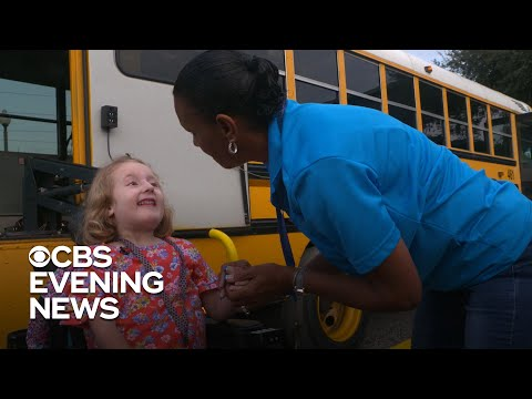 School bus driver forms unexpected bond with 5-year-old girl