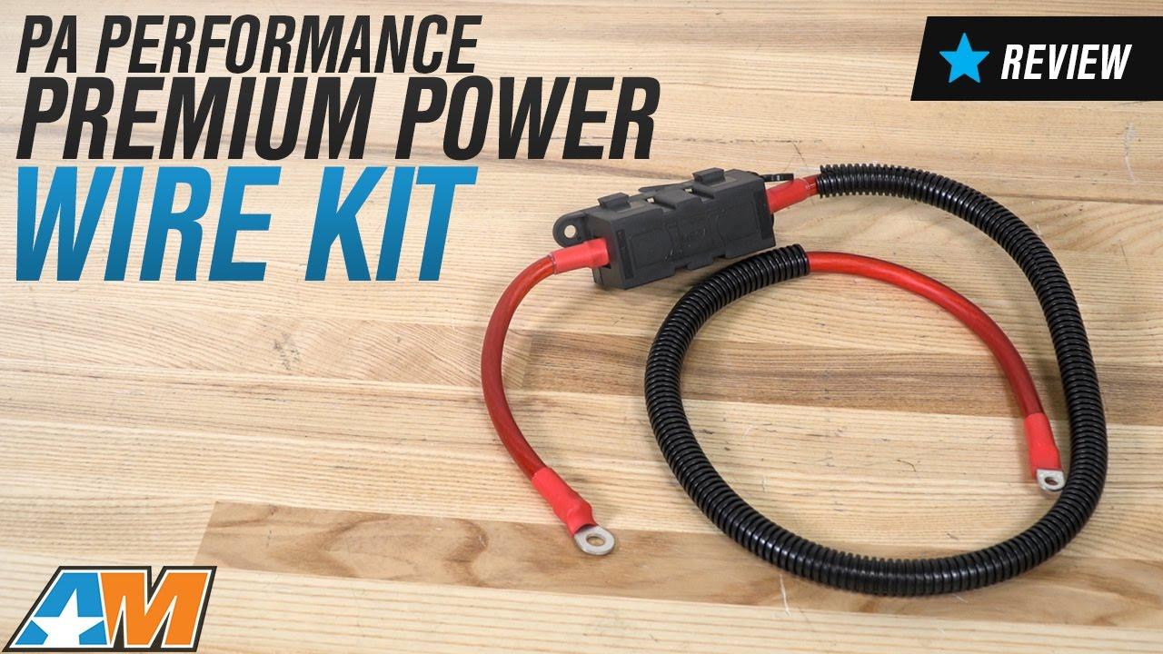 pa performance mustang premium power wire kit 9909 94 14 all excluding gt500  [ 1280 x 720 Pixel ]