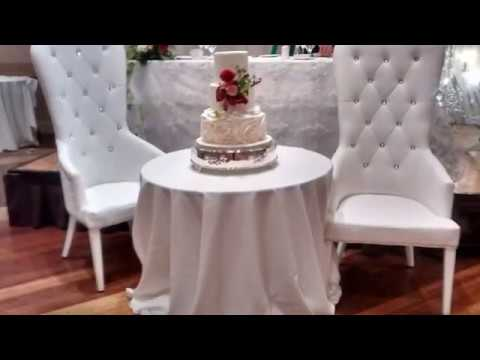wedding bride and groom chairs chevy tahoe with captain whtie youtube
