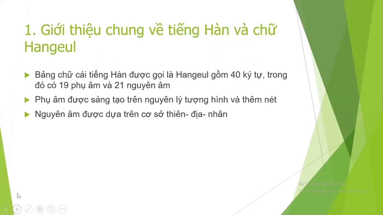 [HỌC TIẾNG HÀN TẠI NHÀ] Bảng chữ cái tiếng Hàn (Phần I)