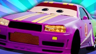 Sports Car And Tow Truck Car Garage | Street Vehicle Cartoons For Kids