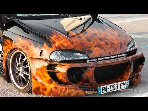 Tuned Cars – Peugeot 407,206,Opel Tigra,Megane – Tuning meet / Euro Style