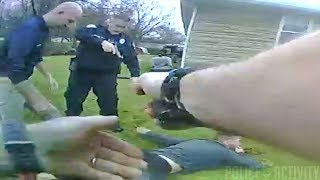 Bodycam Footage of Armed Suspect Being Shot by Officer Following Foot Chase