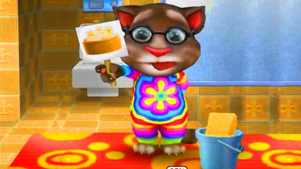 Играть в игру вырасти своего говорящего кота тома