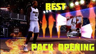 NBA 2K19 Myteam Pink Diamond Shaq Pack Opening! My Best Pack Opening Ever!!!