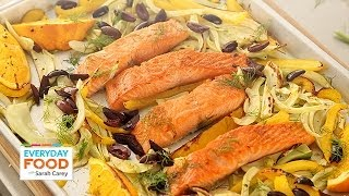 Salmon With Fennel, Bell Pepper, And Olives - Everyday Food With Sarah Carey