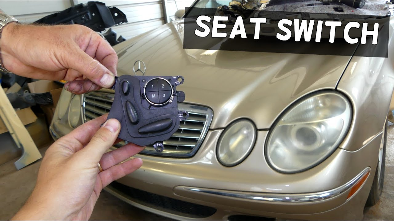 Mercedes W211 Power Seat Switch Replacement Removal Youtube