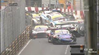 Gros crash en course qualificative au GT World Cup de Macau
