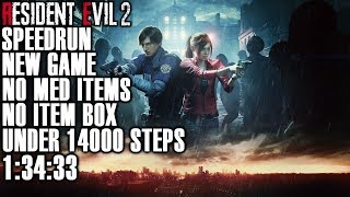 Resident Evil 2 Remake Speedrun Tutorial - [NG] No Recovery Items, No Item Box & Under 14000 Steps