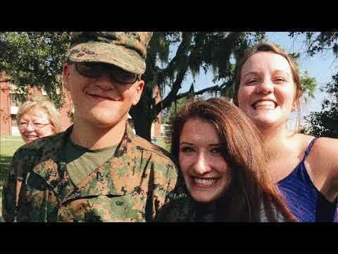 Jean Surprises William at USMC Grad in SC Parris Island