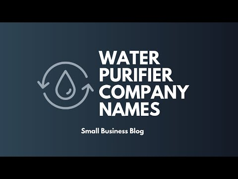Best Water Purifier Company Names