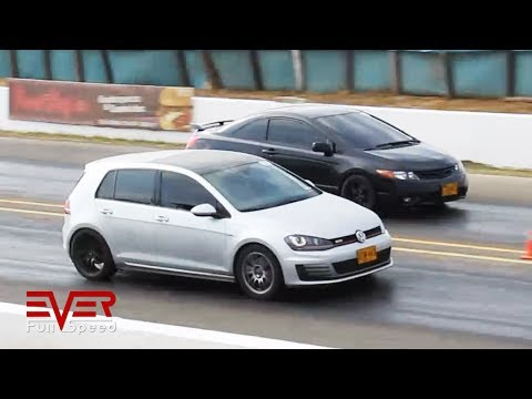 Honda Civic vs Volkswagen Golf GTI | Drag Races