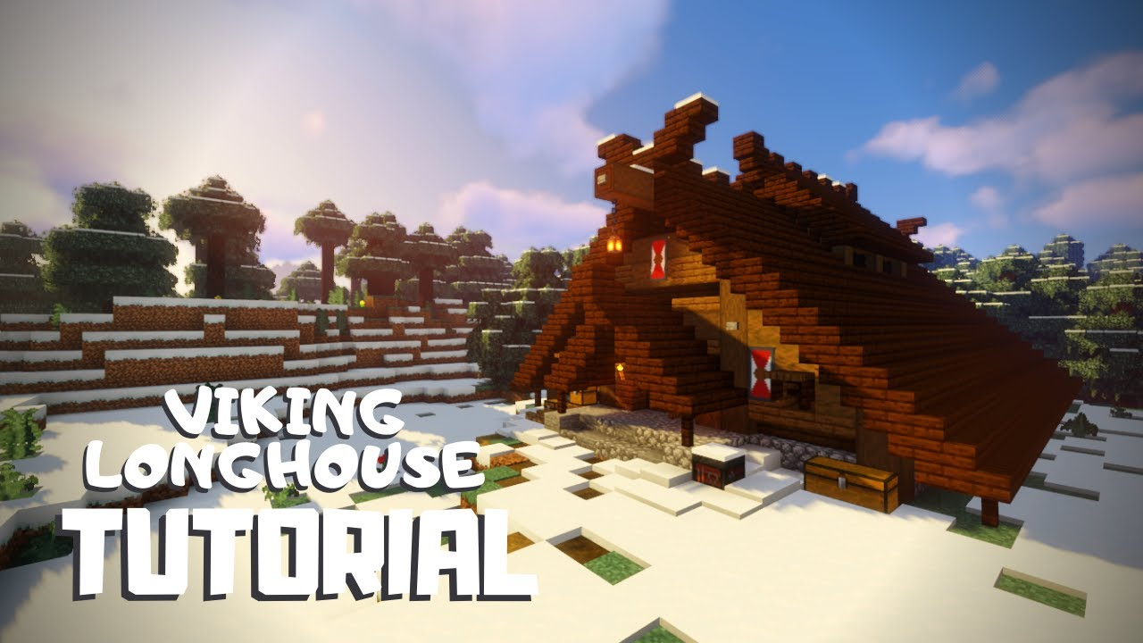 I got a lot of inspiration from skyrim and built my idea of a skyrim castle. Minecraft How To Build A Viking Longhouse Snowy Viking Village Tutorial Youtube