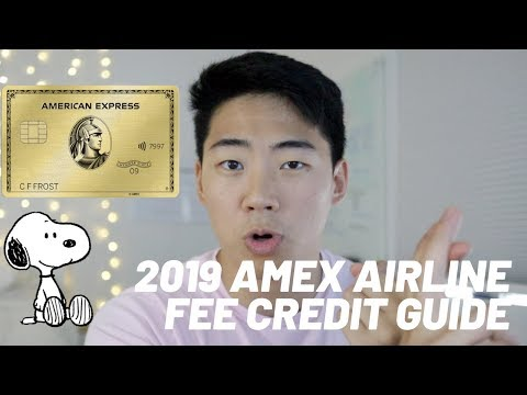 2019 STEP BY STEP AMEX AIRLINE FEE CREDIT WALKTHROUGH