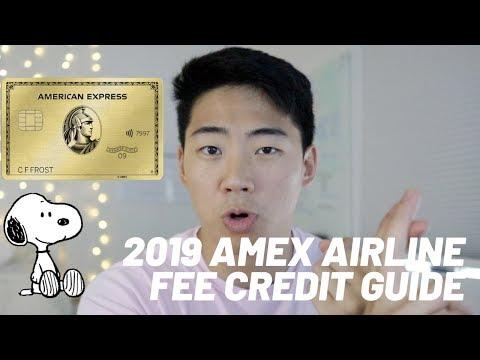 2019 STEP BY STEP AMEX AIRLINE FEE CREDIT WALKTHROUGH