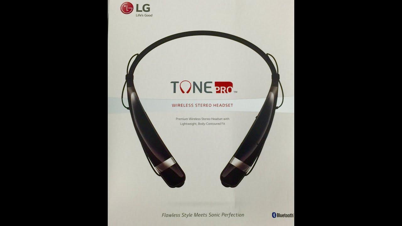 Lg Tone Pro Bluetooth Headset Hbs 760 Youtube