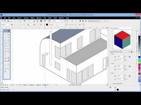 Isometric drawing tools in Corel DESIGNER X6 - YouTube