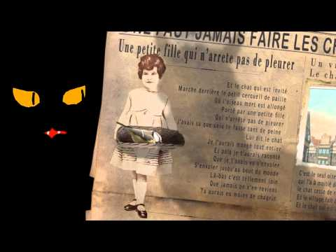 Vidéo Texte Le chat  et l'oiseau  Jacques Prevert